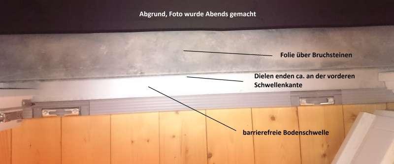 bau de forum fenster und au ent ren 14265 bodenschwelle terassent r abdichten baumangel. Black Bedroom Furniture Sets. Home Design Ideas