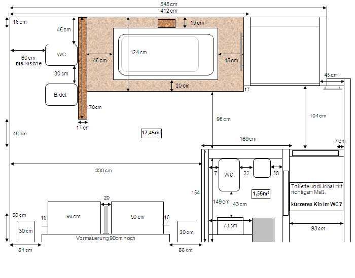 Dusche Freistehende Wand : Dusche, WC – 11982: Trockenbau freistehende Wand mit h?ngendem WC und