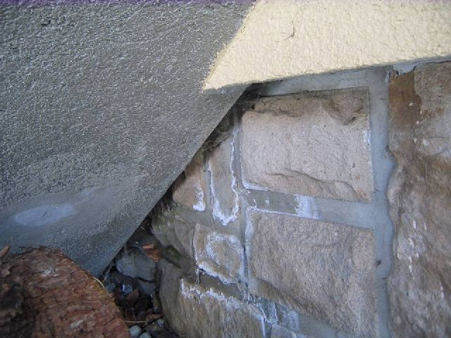 bau de forum modernisierung sanierung bausch den 14508 weisse r nder im sandstein. Black Bedroom Furniture Sets. Home Design Ideas